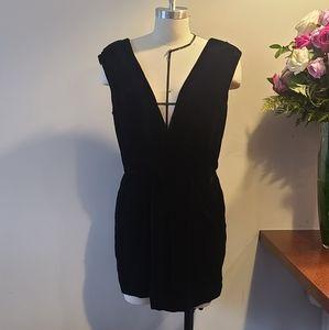 Rachel Roy Black Velvet Size 6 Dress